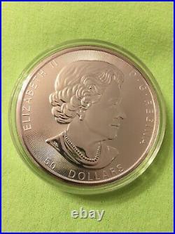 Canada Silver Maple Leaf 10 Oz 2019 BU LARGE $50 Coin RCM Very Low Mintage