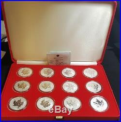 Canada Silver Maple Leaf Zodiac 12 Coin Set