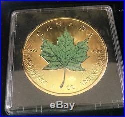 Canada Silver Maple Leaf x 4 Four Seasons 2016 Classic Edition Gold Plate colour