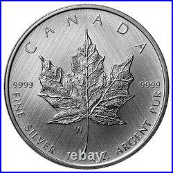 Canada Winnipeg $5 Dollars Silver Coin, Tailored Maple Leaf, UNC, 2021