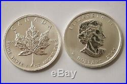 Canadian 9999 Silver Maple Leaf 2011 Bullion Coins Tube of 25