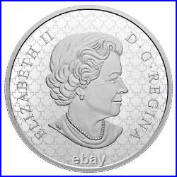 Canadian Maple Leaf Brooch Legacy 2020 $30 2 oz Pure Silver Coin RCM