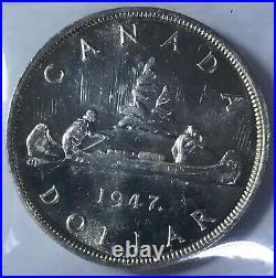 ICCS Choice BU 1947 Maple Leaf Silver Dollar
