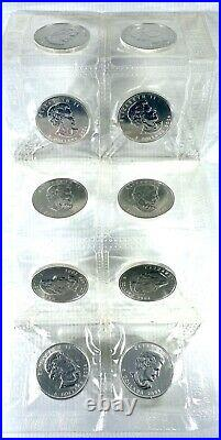 LOT OF 10! 2004 Canada 1 oz Fine Silver Maple Leaf Sealed Blister Pack! Nice