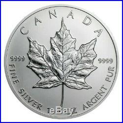 Lot of 10 2001 1 oz Silver Canadian Maple Leaf. 9999 Fine $5 Coin BU (Sealed)