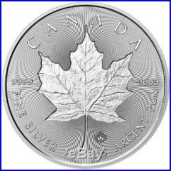 Lot of 10 2018 $5 Silver Canadian Maple Leaf 30th Incuse 1 oz Brilliant Uncirc