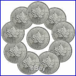 Lot of 10 2020 Canada 1 oz Silver Maple Leaf $5 Coins GEM BU PRESALE SKU59992