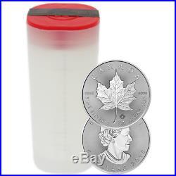 Lot of 100 2018 $5 Silver Canadian Maple Leaf 30th Incuse 1 oz BU 4 Full Rolls