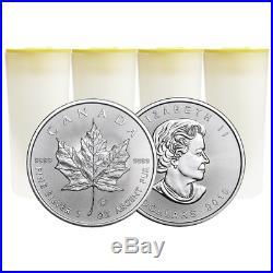 Lot of 100 2019 $5 Silver Canadian Maple Leaf 1 oz Brilliant Uncirculated 4 Fu