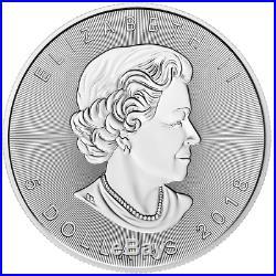 Lot of 25 2018 $5 Silver Canadian Maple Leaf 30th Incuse 1 oz BU Full Roll
