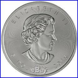 Lot of 5 2015 Canada 1 oz Silver Maple Leaf BU Coin Round
