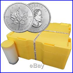 Lot of 50 2019 $5 Silver Canadian Maple Leaf 1 oz Brilliant Uncirculated 2 Ful