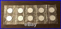 Lot of TEN 2001 Canada $5 Silver Maple Leafs 1 oz. 9999 Fine Silver, Sealed