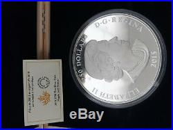 MAPLE LEAF FOREVER 1 Kg Kilo Silver Coin Proof 250$ Canada 2015 Low Mintage