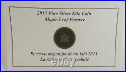 Maple Leaf Kilo Forever Canadian Coin 2013 $250 1 99.99% Silver RARE 600 minted
