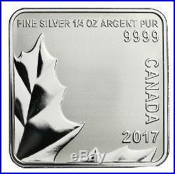 Maple Leaf Quartet, Canada, 4 x 3 dollars, 2017, 4 x 1/4 oz silver