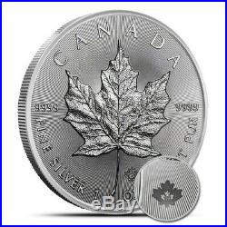 NEW 25x 2019 1oz Canadian Silver Maple Leaf bullion coins in mint tube (unc.)
