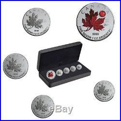 O Canada 2020 Fine Silver Maple Leaf Fractional Set Royal Canadian Mint