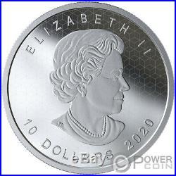 PULSATING MAPLE LEAF Optical Effect 2 Oz Silver Coin 10$ Canada 2020