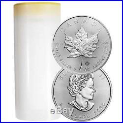 Presale Lot of 25 2020 $5 Silver Canadian Maple Leaf 1 oz Brilliant Uncircul