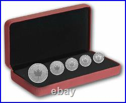 Pure Silver Maple Leaf Fractional Set -Our Arboreal Emblem The Maple Tree 2021
