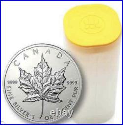 Qty 25 x Canadian Maple Leaf 9999 Silver Coins 2010 in Mint Tube