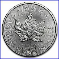 ROLL 2016 1 OUNCE SILVER CANADIAN MAPLE LEAF 25 COINS. 9999 1 oz