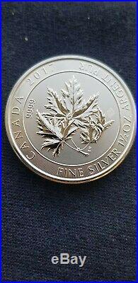 Roll of 2017 1.5 Troy Ounce Maple Leaf. 9999 Silver Coins 15 Coins/22.5 Ounces