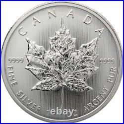 Roll of 25 2013 Canada 1 oz Silver Maple Leaf $5 Coins