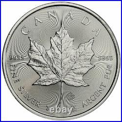 Roll of 25 2014 Canada 1 Oz. 9999 Silver Maple Leaf $5 Coins Gem BU