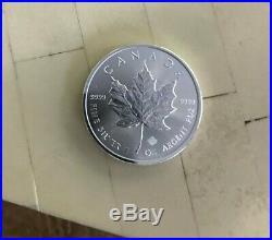 Roll of 25 2017 1 oz Canadian Silver Maple Leaf. 9999 Fine $5 Coin BU