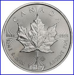 Roll of 25 -2019 Canada 1 oz. Silver Maple Leaf $5 Coins GEM BU SKU55538