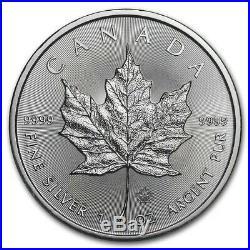 Roll of 25 2020 Canada 1 oz Silver Maple Leaf Coins Brilliant Uncirculated