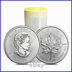 Roll of 25 Canadian Silver Maple Leaf 1 oz. Coins 2019 Year 25 ounces Silver