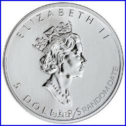 Roll of 25 Random Date Canada 1 oz Silver Maple Leaf $5 GEM BU