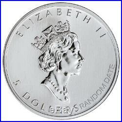 Roll of 25 Random Date Canada 1 oz Silver Maple Leaf $5 GEM BU SKU59328
