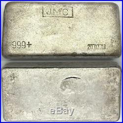 Scarce Johnson Matthey Canada 20 oz. 999 Silver Bar (No Maple Leaf)