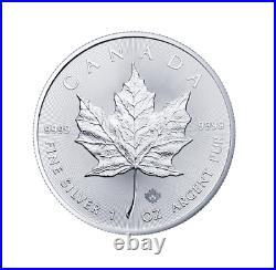 Silber Maple Leaf Tube 25x 2021 1 OZ Unze Ounce Once Silver Argent Kanada Canada