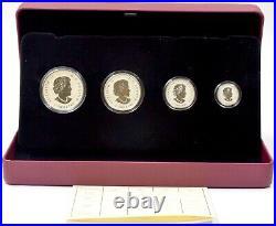 Silver Proof Coins 4x Maple Leaf Tribute Canada Confederation Coin Set BOX + COA