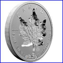 Super Incuse Maple Leaf 1 Oz Silver Reverse Proof 20 CAD Canada Kanada 2021