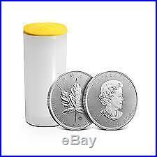 TUBE Maple Leaf 25 x 2011 Canadian 1 oz Silver Bullion Coin Brand new uncirc