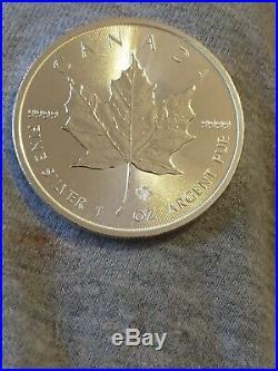 TUBE of 25 x 2014 Canadian Maple Leaf 1 oz Silver Bullion Coin Brand new Uncirc
