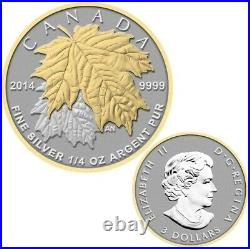 The Maple Leaf 2014 Canada Fine Silver Fractional Set of Coins