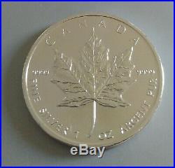 Tube 25 x 2011 Canadian Maple Leaf 1oz Silver Bullion Coin Uncirculated Freepost